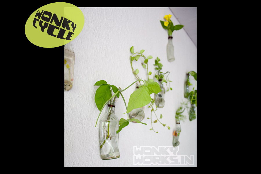 Bottle Planter INR 800 each, 10 for 5000