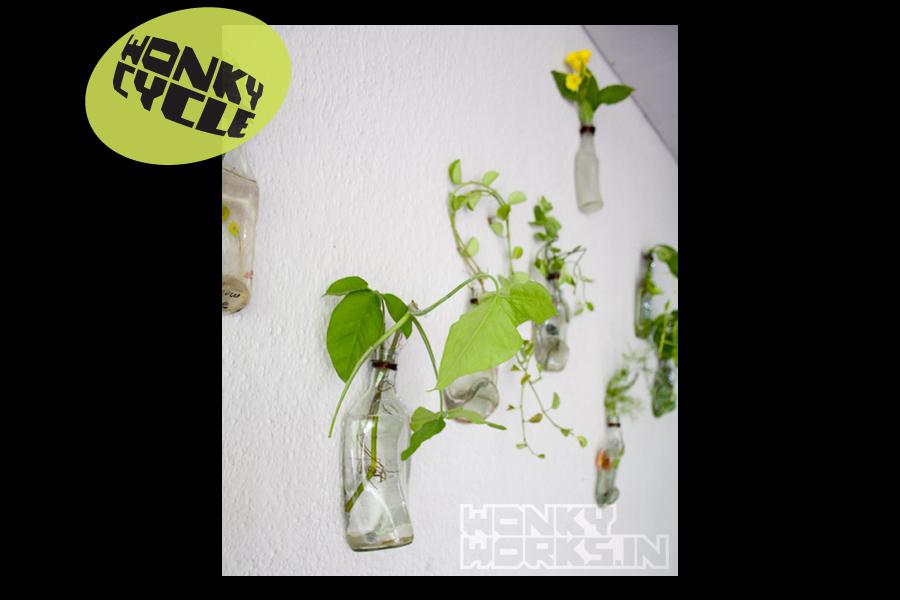 Bottle Planter INR 800 each, 10 for 5000