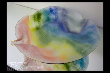 rainbow platter frosted (big) INR 6500