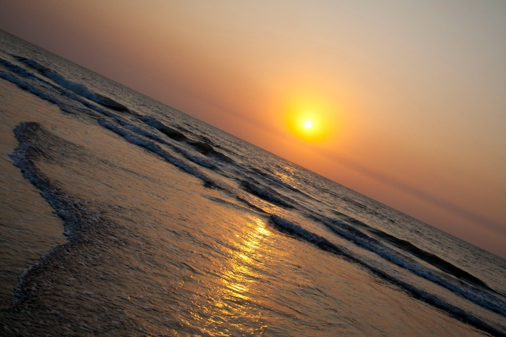 sunset at kashid