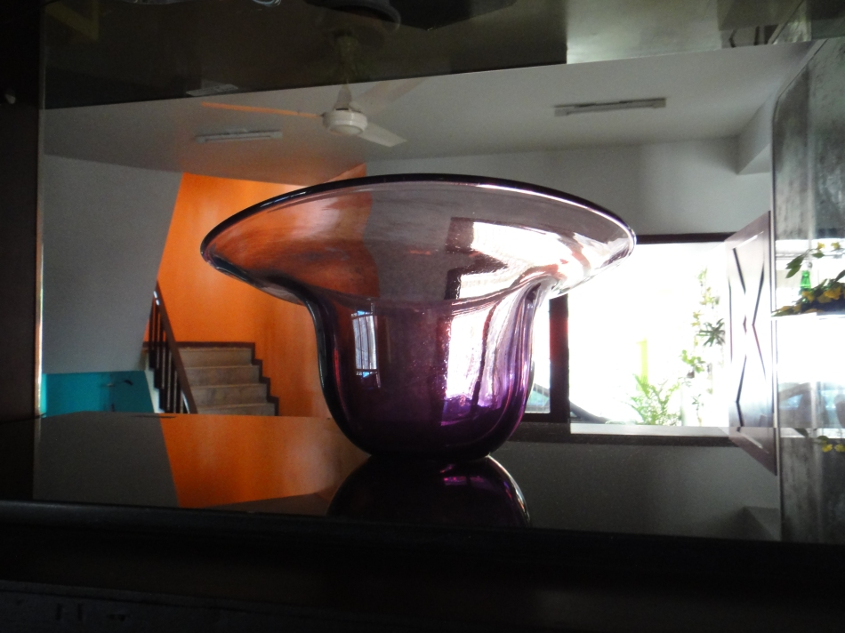 amythyst blown vase