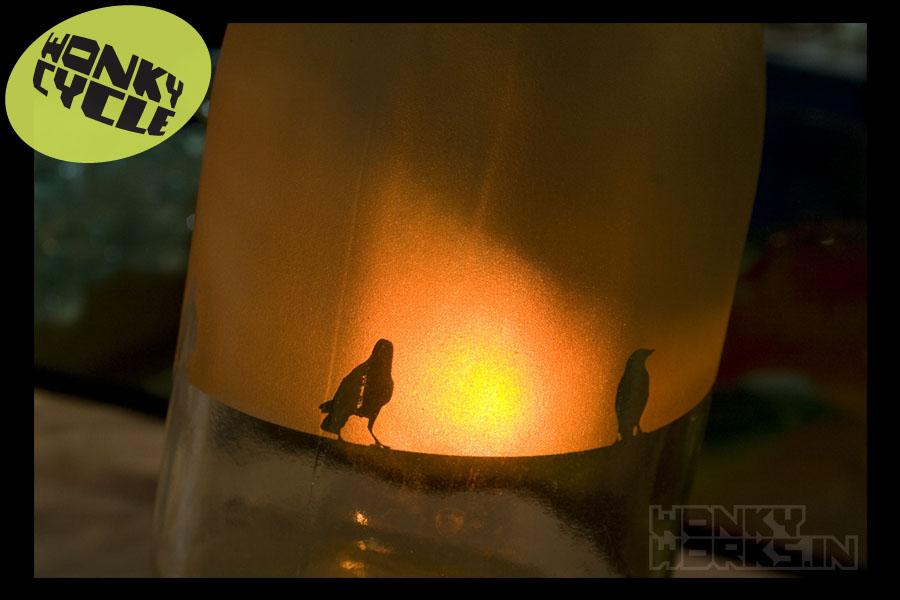 bottle light - bird2