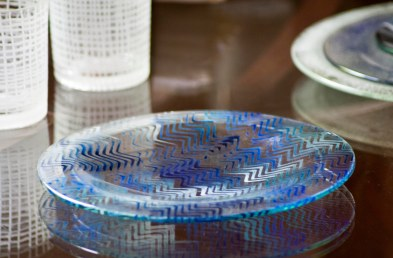 Wavy Blue Dinner Plate