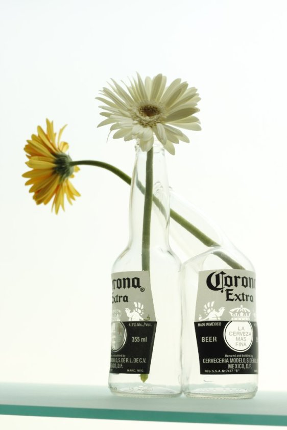 2 bottle planter