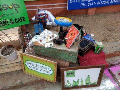 my street stall outside the jaipur literature festival