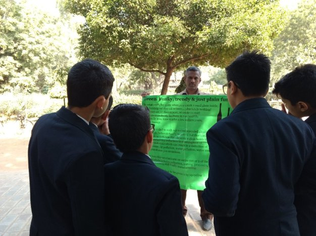 talking to some students in ajmer