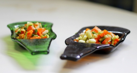 appetizer dip plate