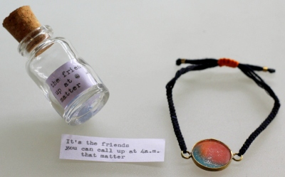 up-cycled friendship band